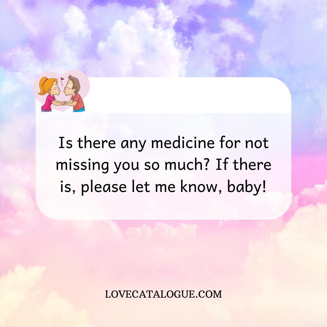 I miss you letter